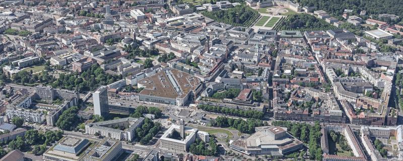 Luftbild Ettlinger Tor, Stadt Karlsruhe, Liegenschaftsamt